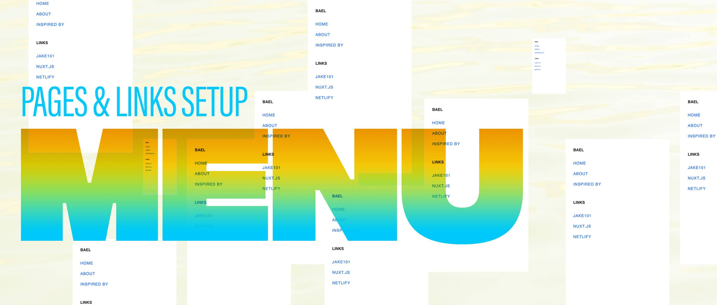 Menu Setup — Pages & Links