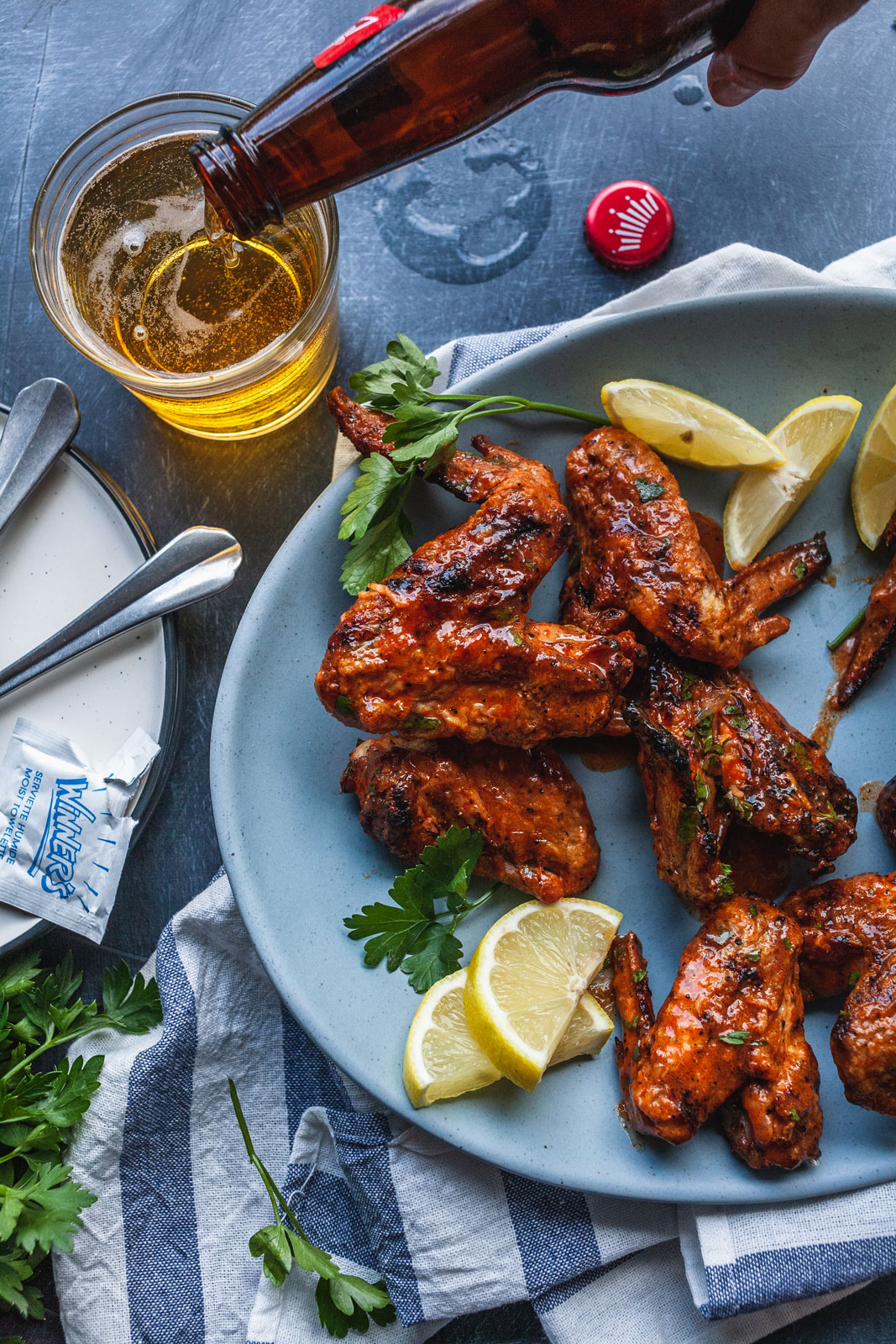 Grilled Party Wings With Cholula Butter