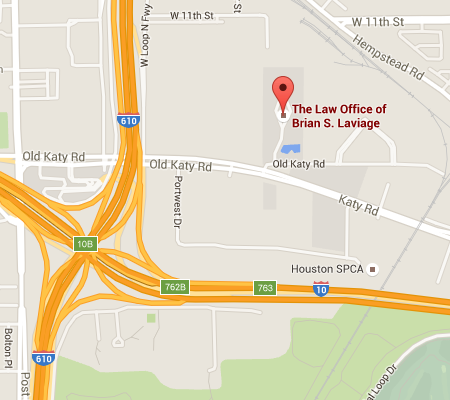 Map showing location of The Law Office of Brian S. Laviage