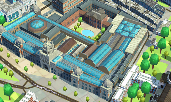 eeGeo exhibits indoor mapping at the V&A and gathers user feedback