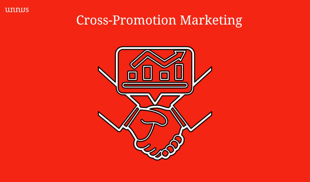 Cross-promotion marketing illustration