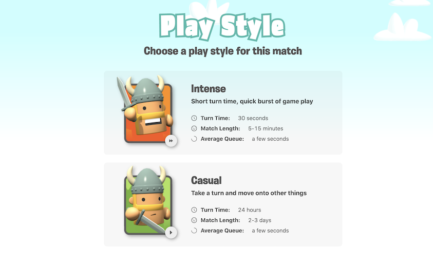 Select a Play Style
