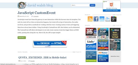 David Walsh Web Development Blog