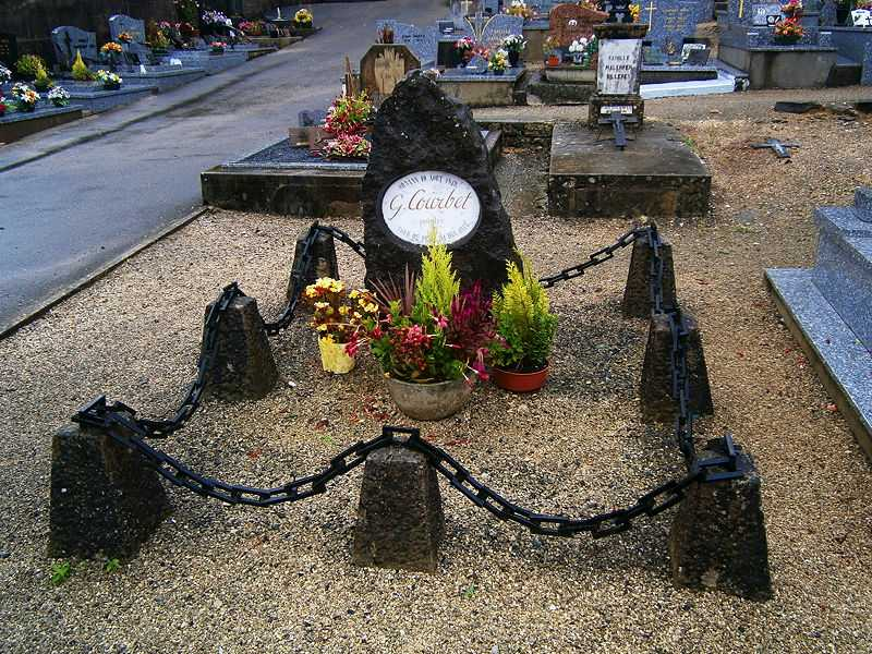 A photo of Gustave Courbet's grave in Ornan, France (© Jospe, CC BY-SA 3.0)