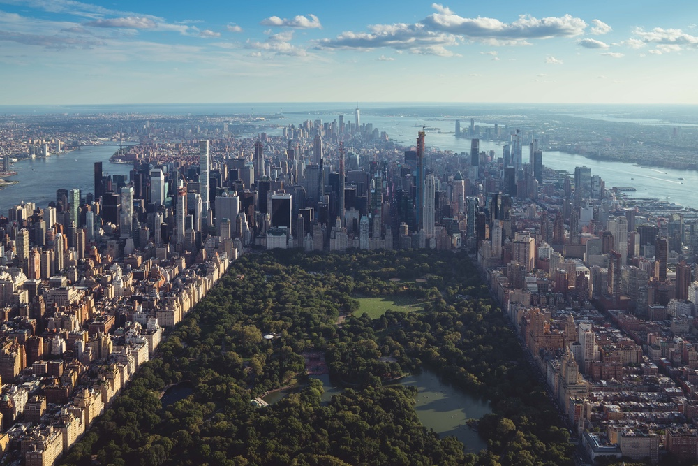 Aerial photo of Central Park by Jermaine Ee through Unsplash