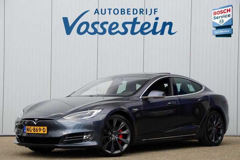 Tesla Model S P90D Performance Ludicrous 576pk / Autopilot / Pano / 21inch / Carbon / 162.500,- Nieuw afbeelding 4