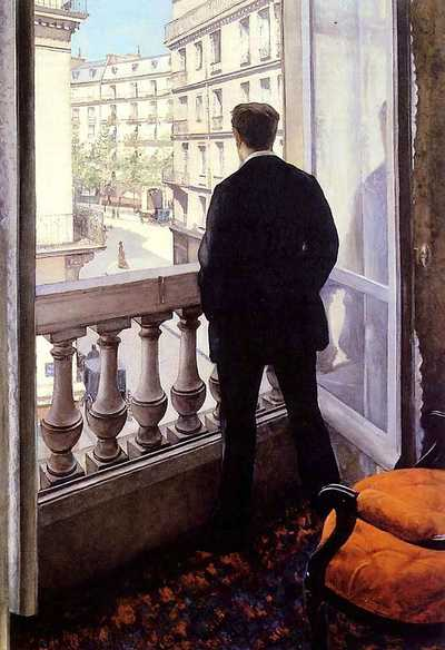 'The artist's younger brother René in the home on rue de Miromesnil', by Gustave Caillebotte (1848-1894) in 1875, oil on canvas