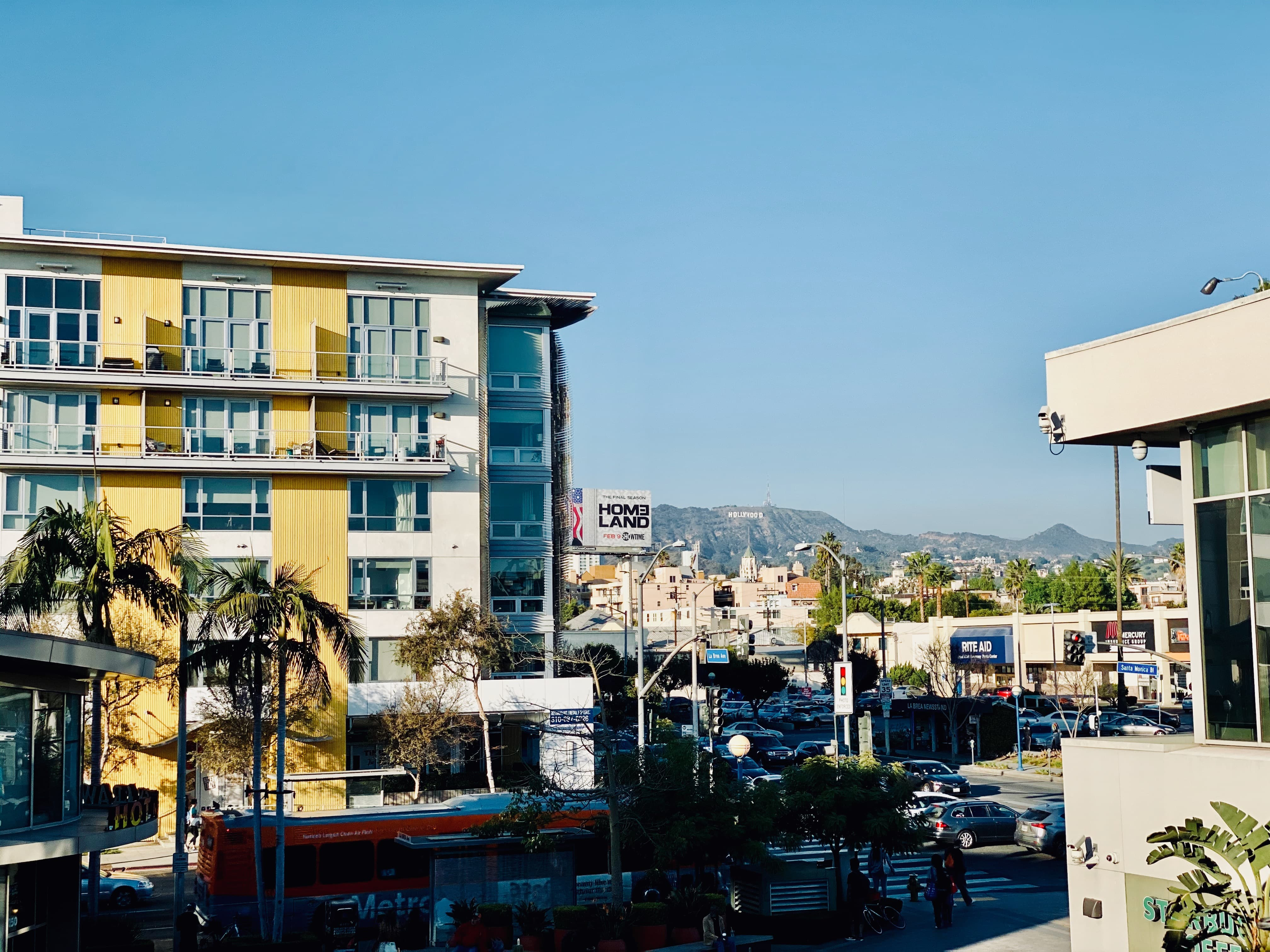 My apartment with the Hollywood sign in the background