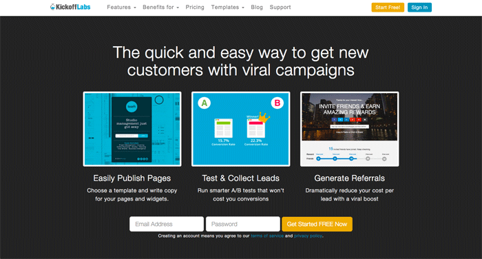 PreLaunch Traction Tools StartupResourcesio - Launch page template