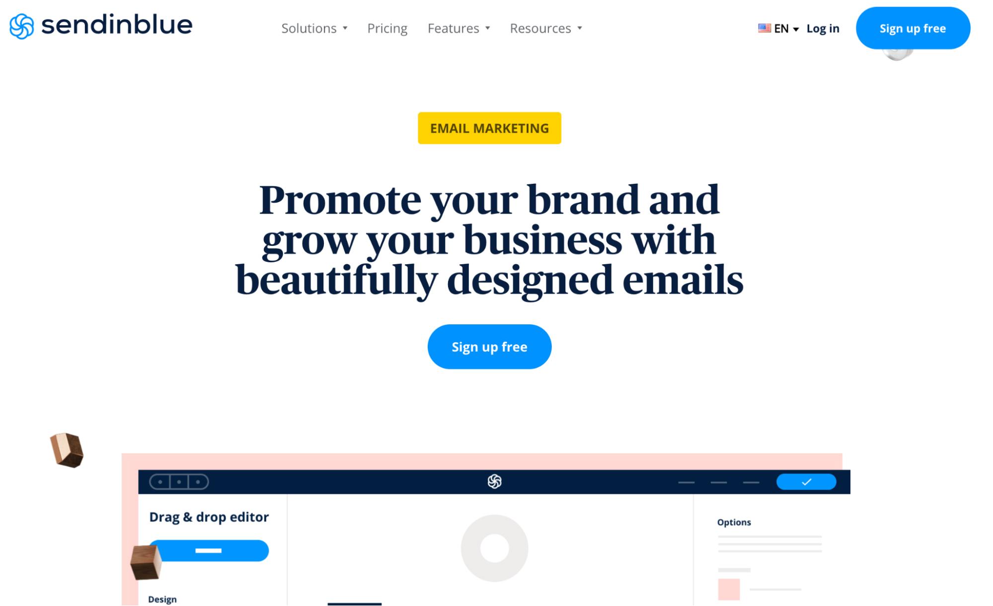 Mailchimp Alternatives: Sendinblue Screenshot