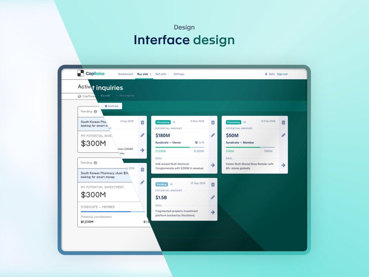User Interface Design - UI Design   CapRaise