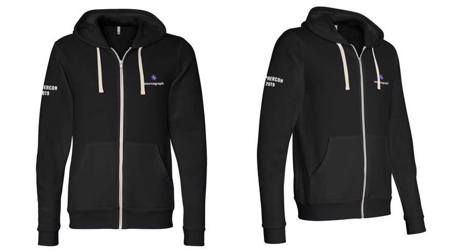 Sourcegraph GopherCon hoodie