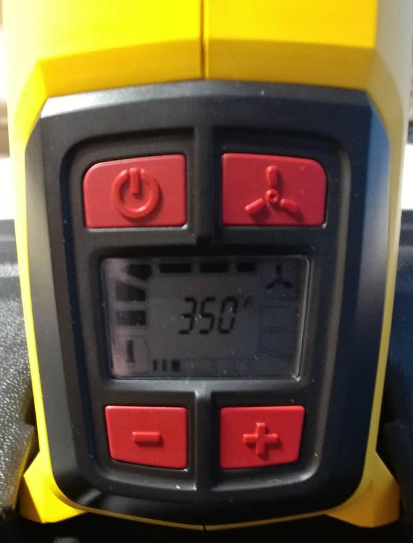 Heatgun Temperature