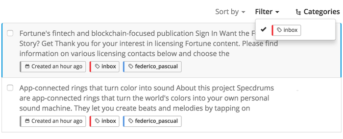 Introducing Inbox Samples: saving your data for future training samples