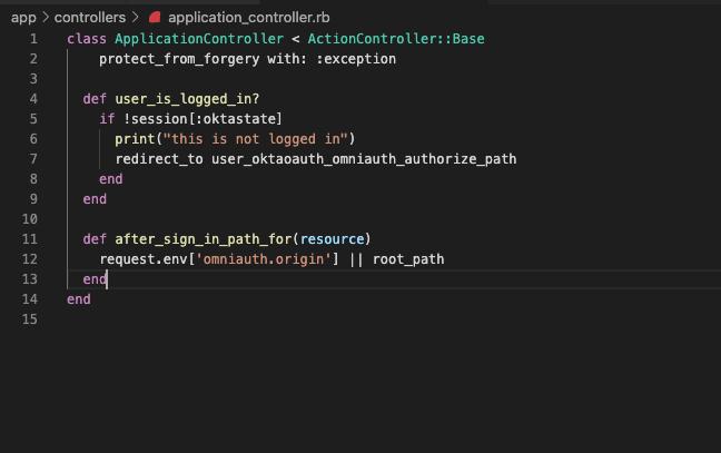Rails application controller