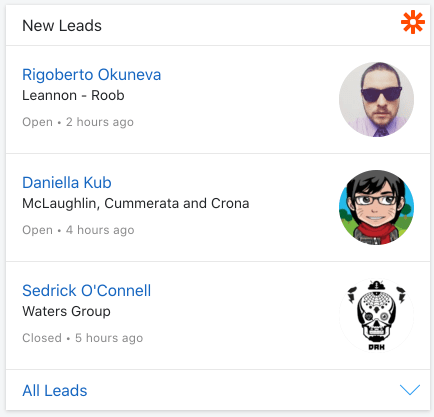 List of new leads from any 3rd part CRM via Zapier