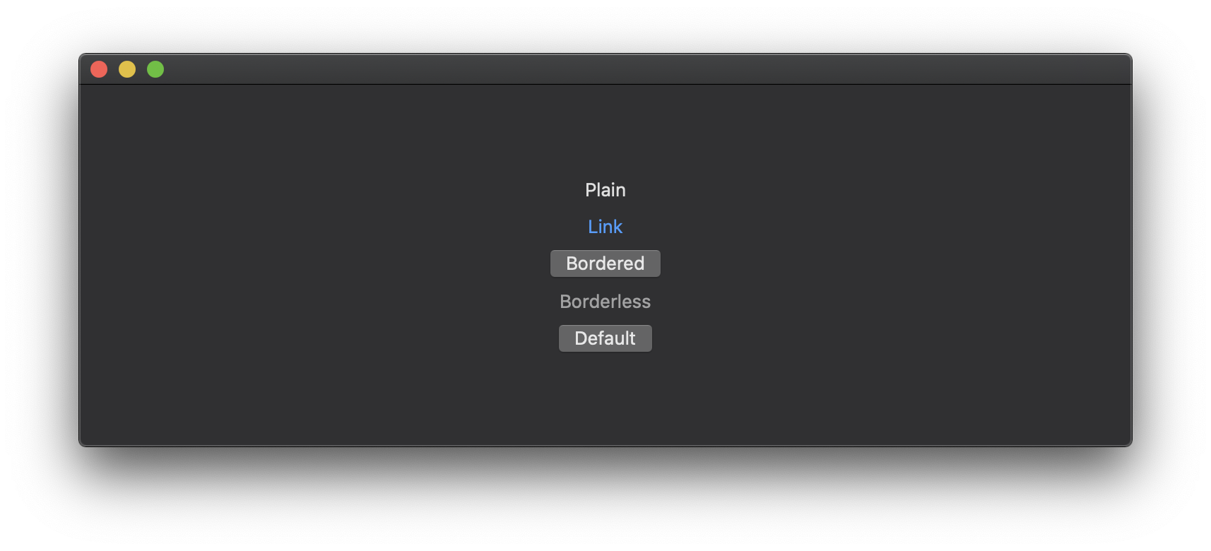 macOS button styles