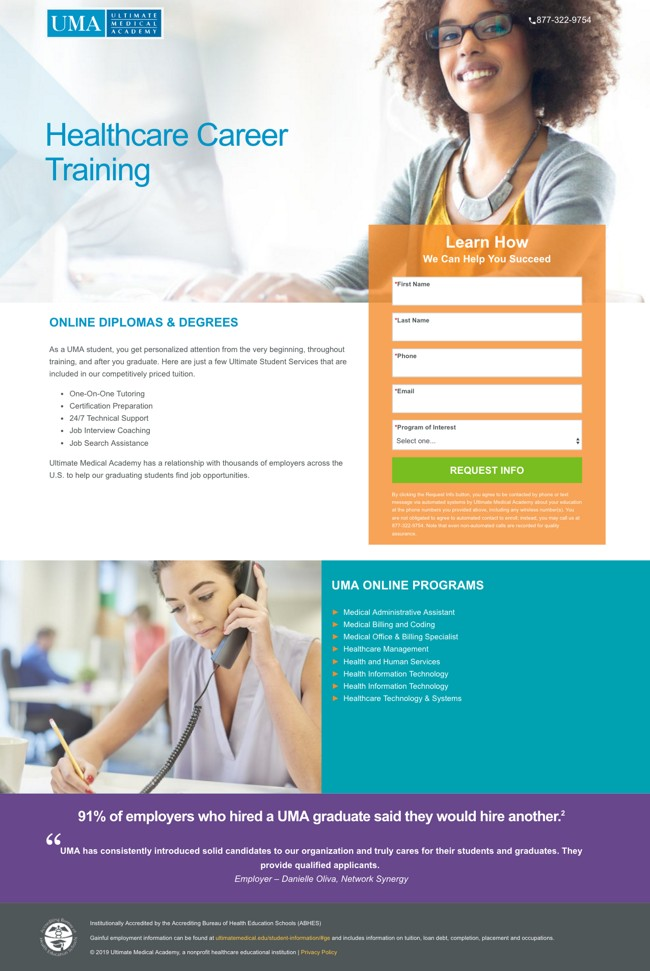 landing page example image
