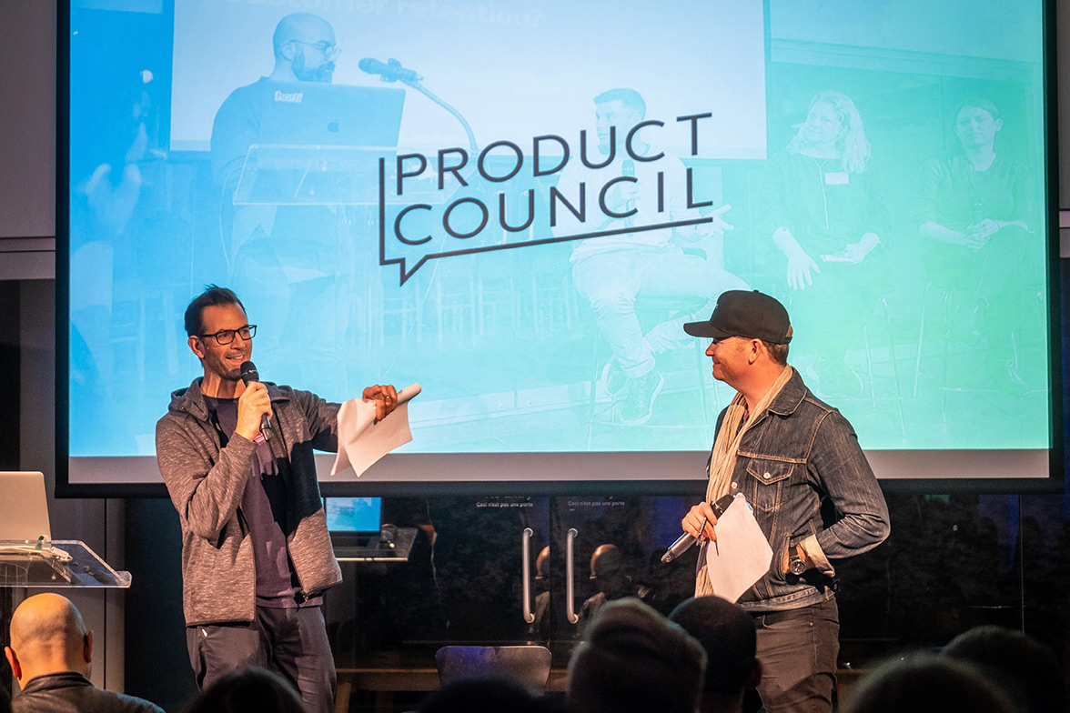 Image of the Product Council event and stage c. 2019