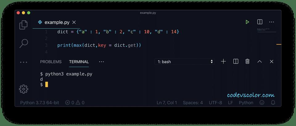 Python key maximum value example4