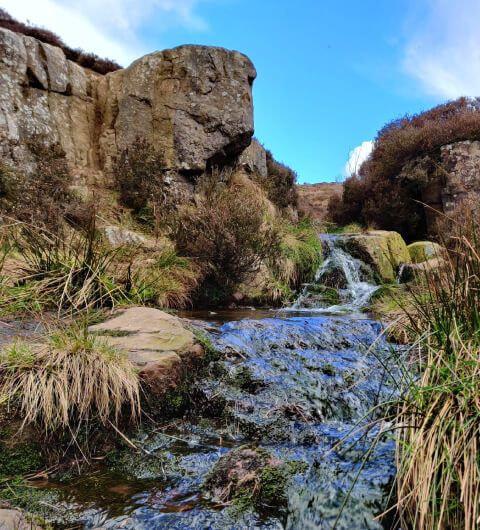 Ilkley Moor view over Ilkey