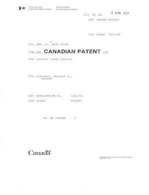 Wherl Lantern Candy Carrier Patent #1246037.pdf preview