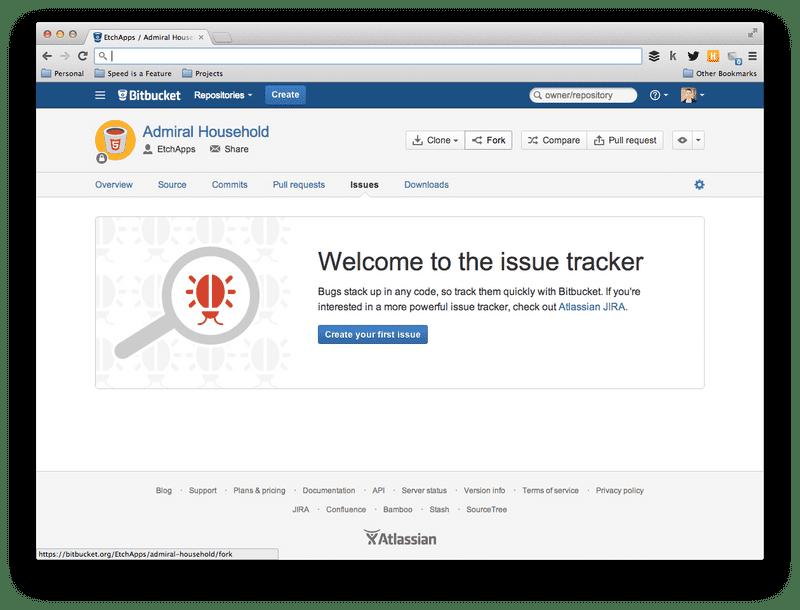 Screenshot of No issues in Bitbucket project