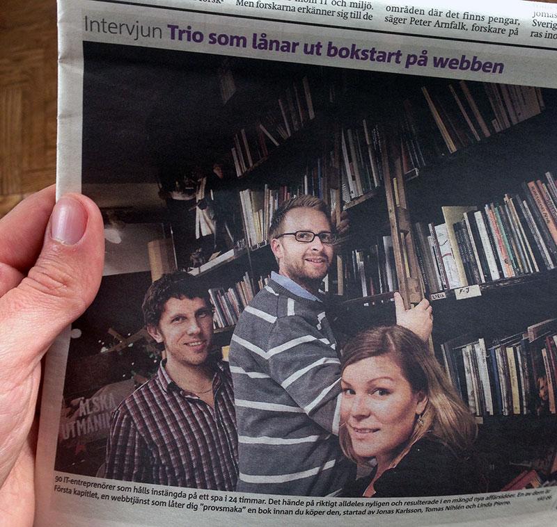 Tidningsartikel i Metro om Första Kapitlet från 2009