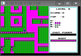 A screenshot of level 8 rendered in the cataclone engine.