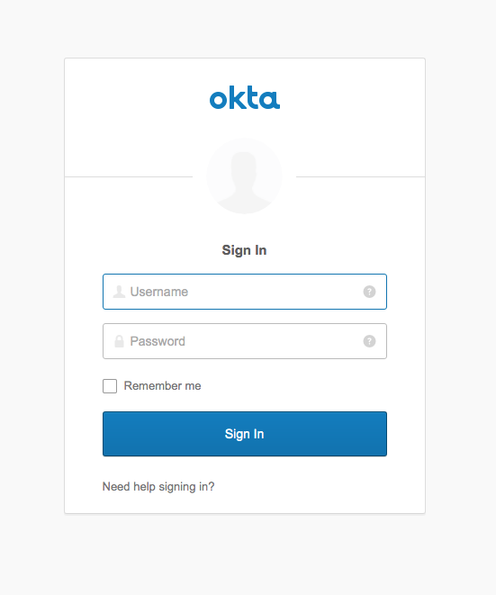 Okta Sign-In