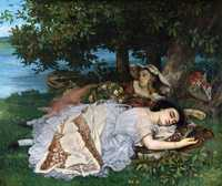 'Young Ladies Beside the Seine (Summer)' by Gustave Courbet, 1856, Petit Palais, Paris is one of the most famous of Courbet's paintings