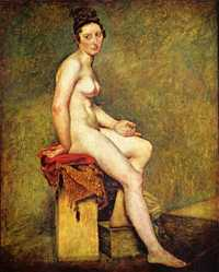 Mademoiselle Rose, by Eugene Delacroix between 1817-1824, Louvre