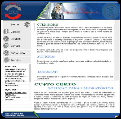 Homepage antiga do Altadomo