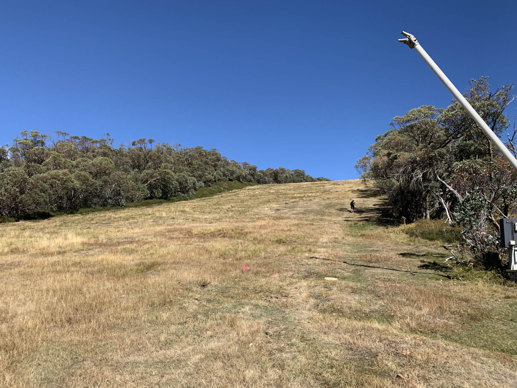 Northside Express ski run - getting closer to the summit of Mt Buller