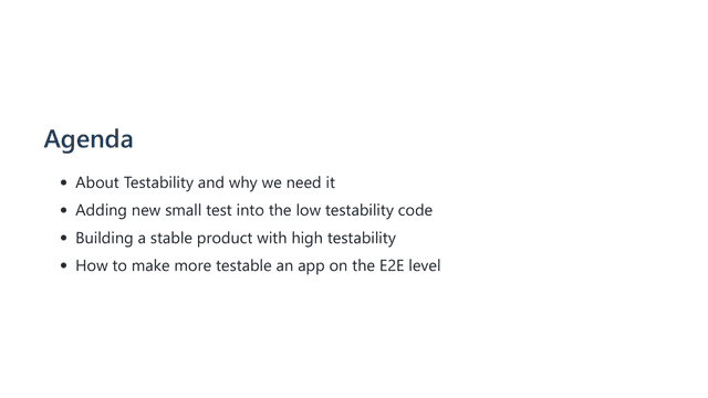 how can we improve the testability 05