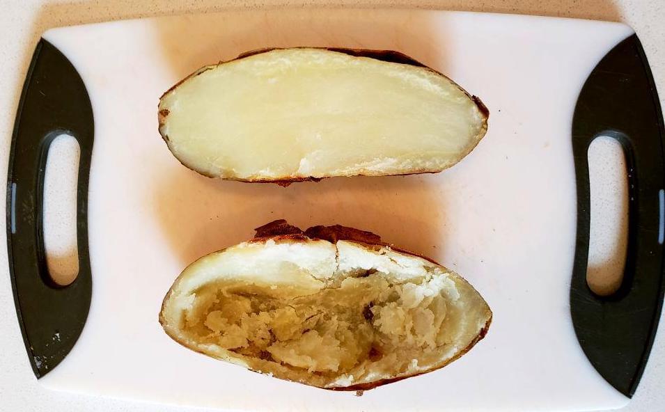 Hollow potato skins