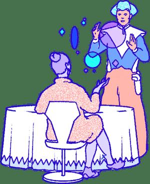 Illustration of magicians