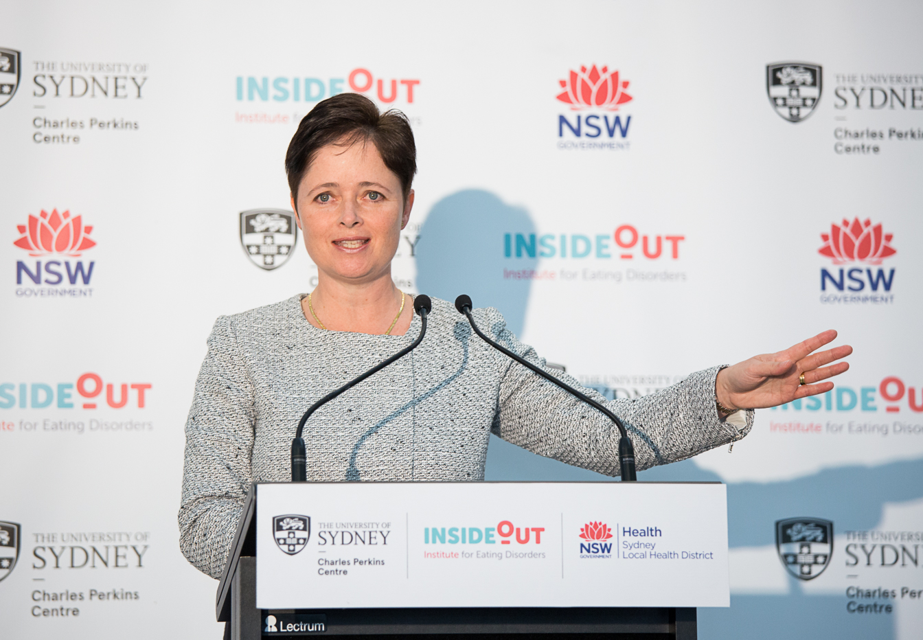 Hon Tanya Davies MP, NSW Minister for Mental Health, launches the InsideOut Institute