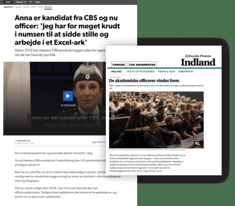Forsvaret i medierne