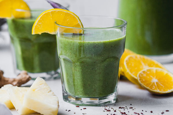 Pineapple Citrus Ginger Green Smoothie