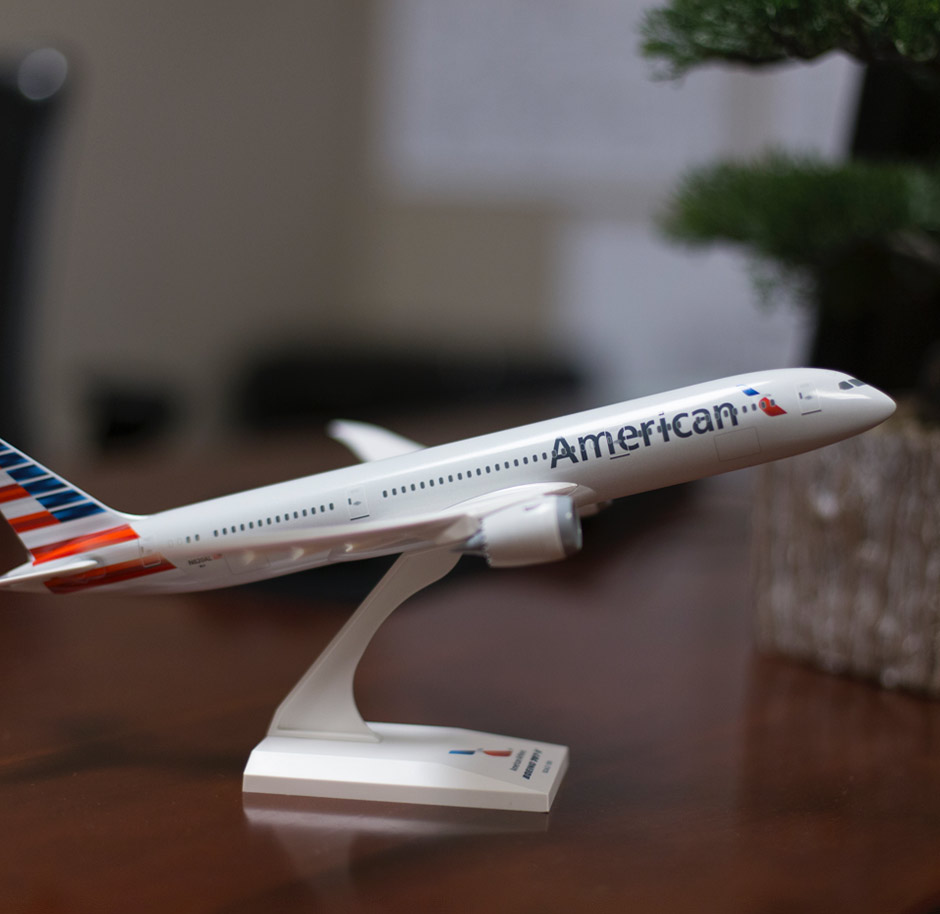 Example industry we've served: American Airlines airplane model