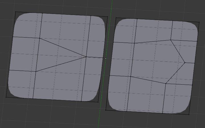 三角形面と五角形面のサブディビジョンサーフェス