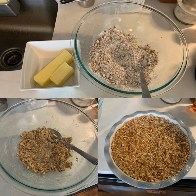 Making the crust in 3 steps