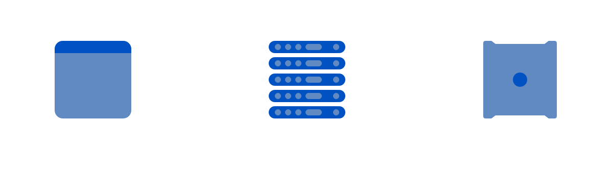 Simply a browser talking to a server… and that server talking to a program