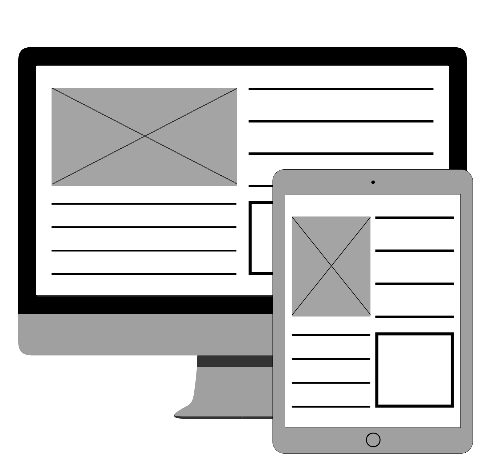GraphicMail: Example of a wireframe