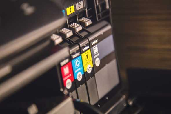Printer inkt in printer
