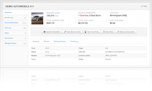 New Fleetio profile design makes Fleetio the easiest fleet management software system available