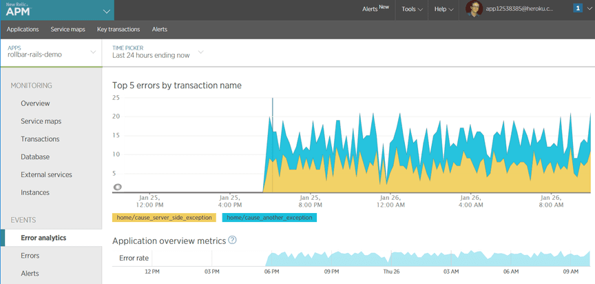 rollbar new relic 3