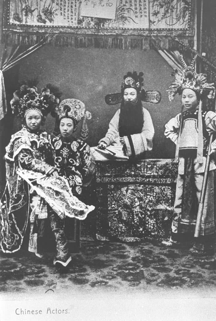 Chinese opera actors, 1890s