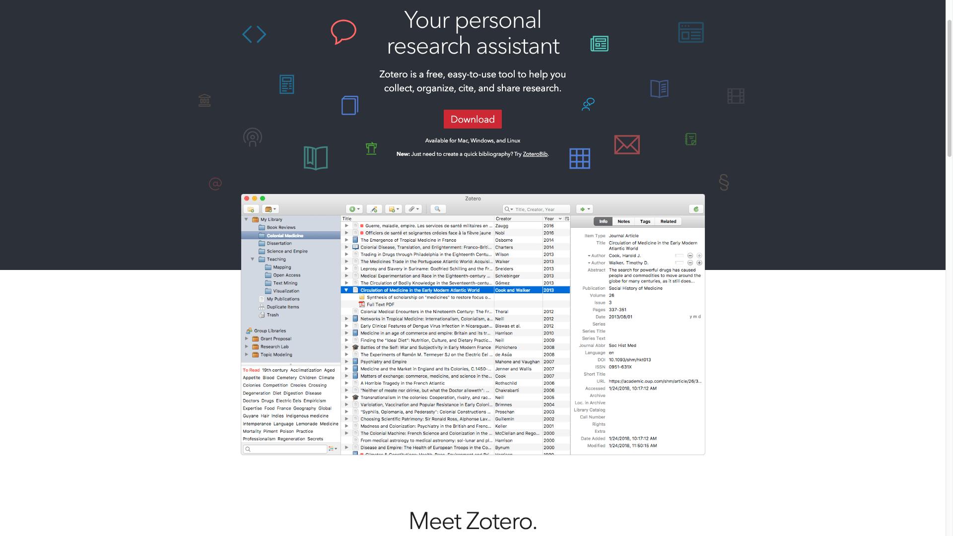 Zotero Start Page